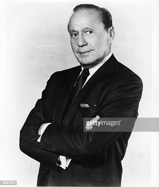 American comedian Jack Benny formerly Benjamin Kubelsky who gained popularity as a host of both television and radio shows