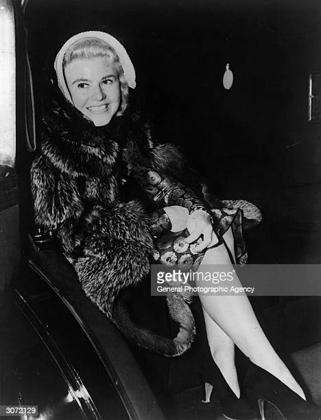 American film actress dancer and singer Ginger Rogers leaving the Lux Radio Theatre