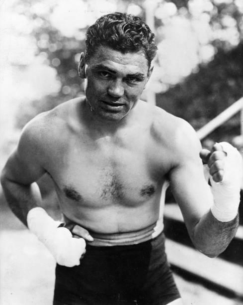 American heavyweight boxer Jack Dempsey .