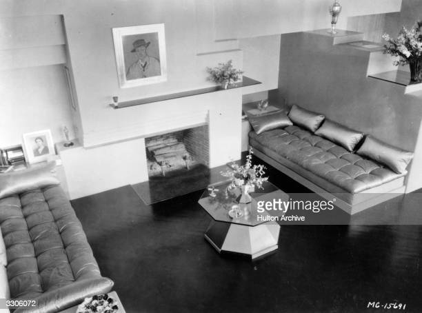 An interior shot of one of the rooms at Dolores Del Rio's home which she shares with her husband Cedric Gibbons Art Director of MGM Studios
