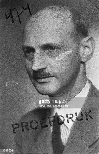 Anne Frank's father Otto Frank who survived three years of hiding in Amsterdam and his deportation to Auschwitz Concentration Camp