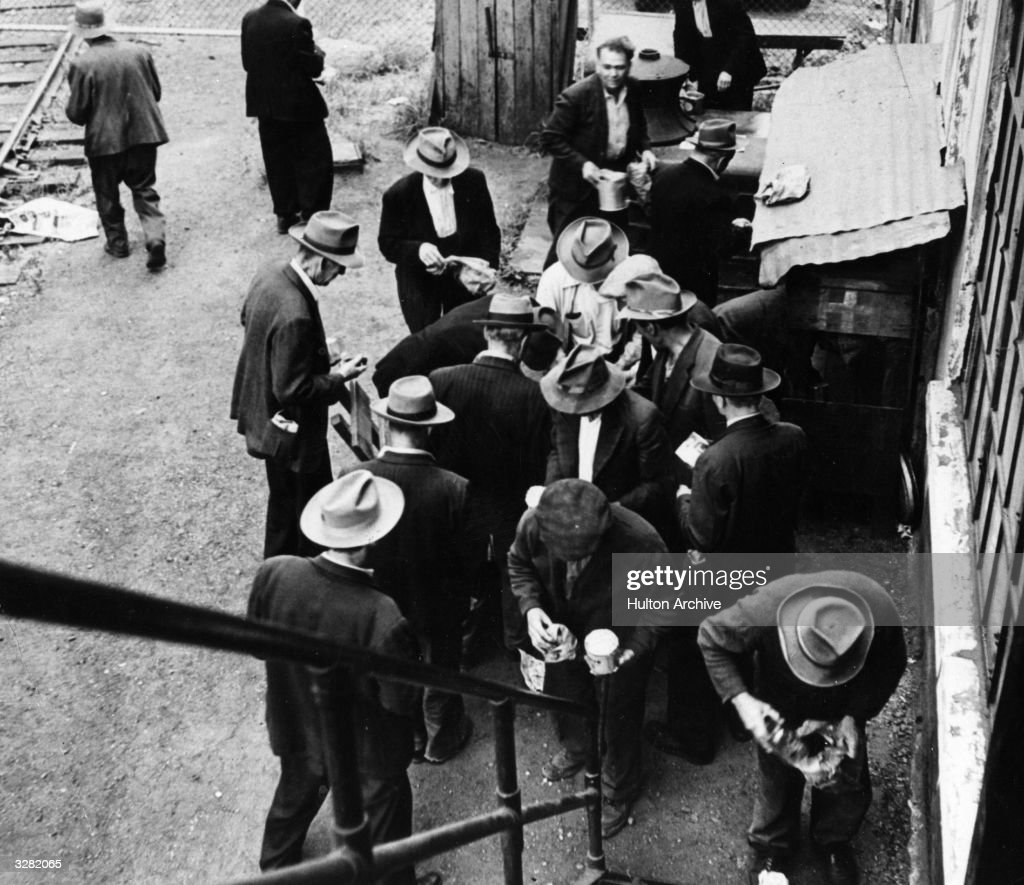 Food handouts during the Depression.