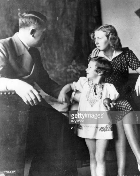 German dictator Adolf Hitler Eva Braun and 'Uschi' from Eva's photo album