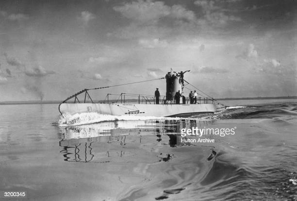 German submarine U1 on sea trials She was built in the Deutsche Werke in Kiel in 1935 and sunk in the North Sea in April 1940 probably in a mine...