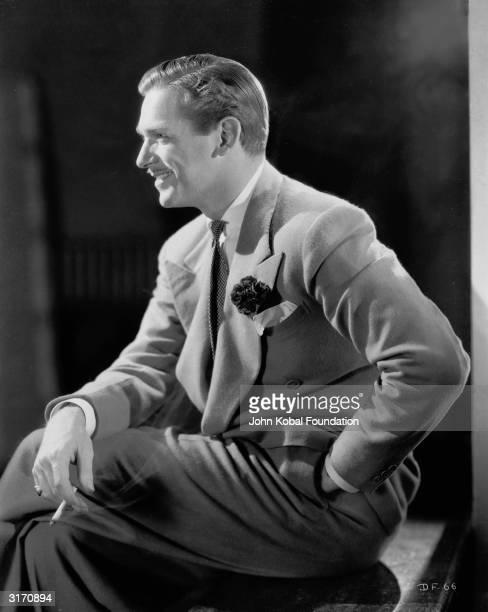 Hollywood actor Douglas Fairbanks Jr., the son of swashbuckling star Douglas Fairbanks.