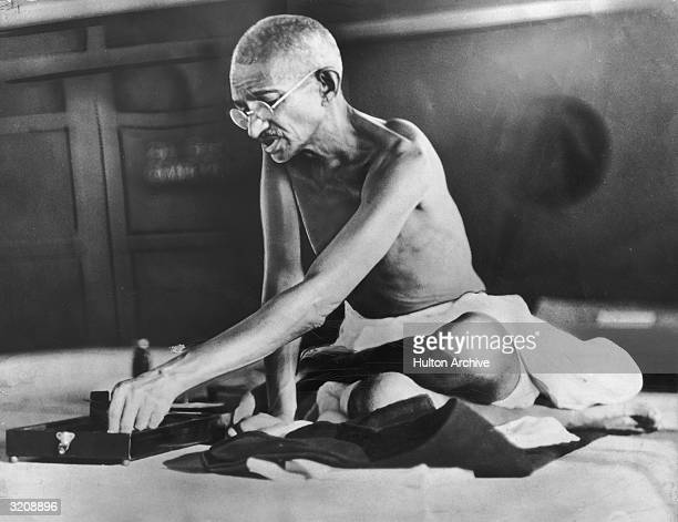 Indian spiritual and political leader Mahatma Gandhi