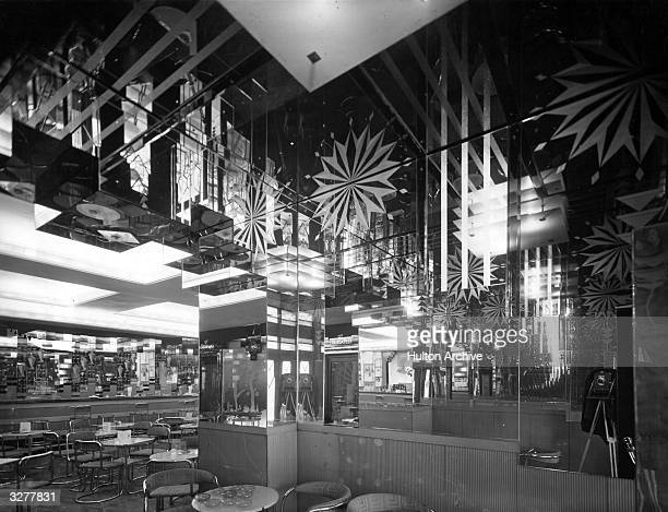 Interior of the Cafe Royal with glass etchings and concealed lights