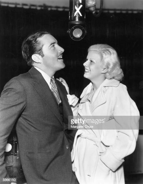 Jean Harlow and John Boles in Argentina on a publicity tour
