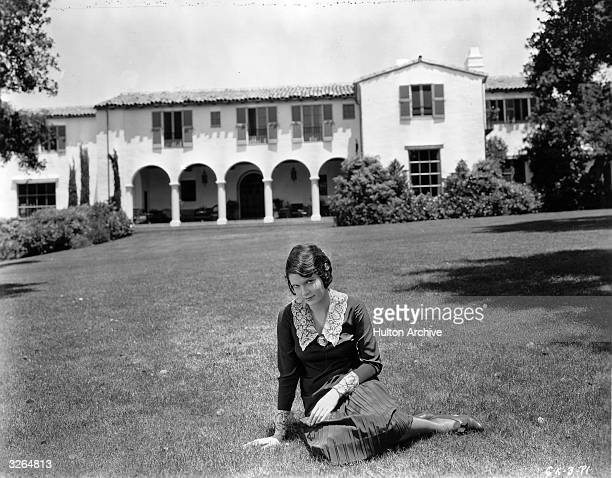 Marguerite Churchill a Fox Film actress at her Hollywood home She was married to actor George O'Brien