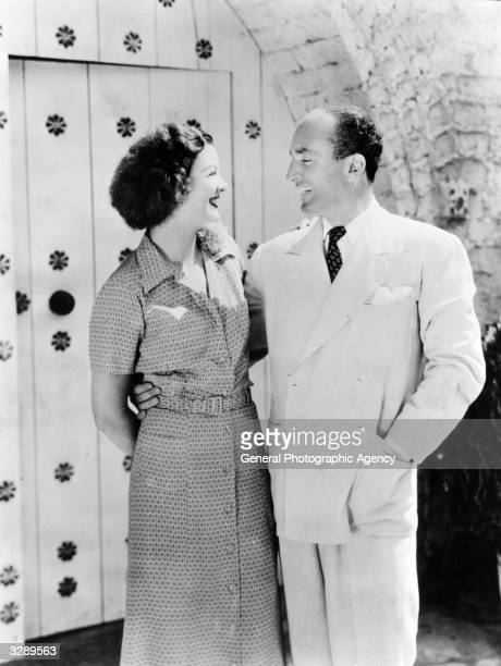 Myrna Loy the Hollywood film actress and her husband Arthur Hornblow