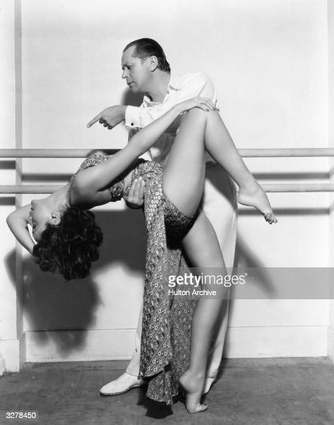 Paulette Goddard born Marion Levy American leading lady and wife to Charles Chaplin Burgess Meredith and Erich Remarque receiving dancing...