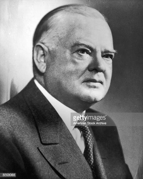 Portrait of Herbert Hoover , the thirty-first President of the United States, who served from 1929 to 1933. Hoover became president the same year as...