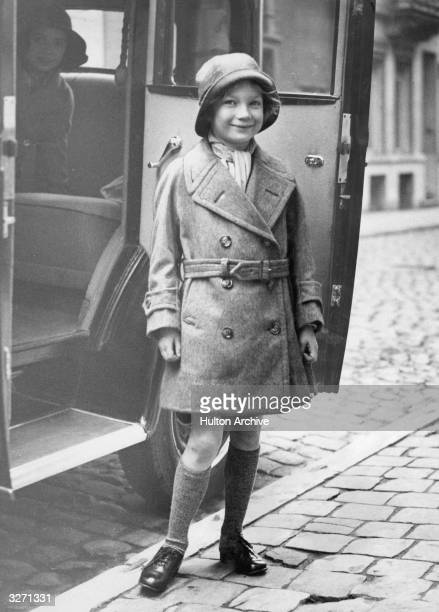 Princess Josephine Charlotte the seven year old daughter of the Belgian King and Queen off to her first day at school in Brussels She later married...
