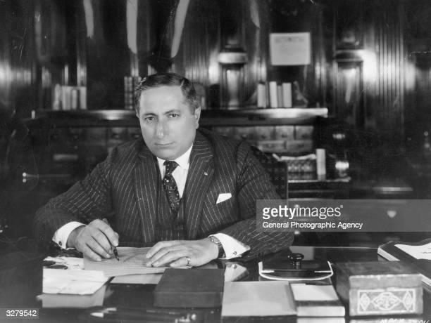 Russian-born American film mogul Louis Burt Mayer , head of production at MGM.