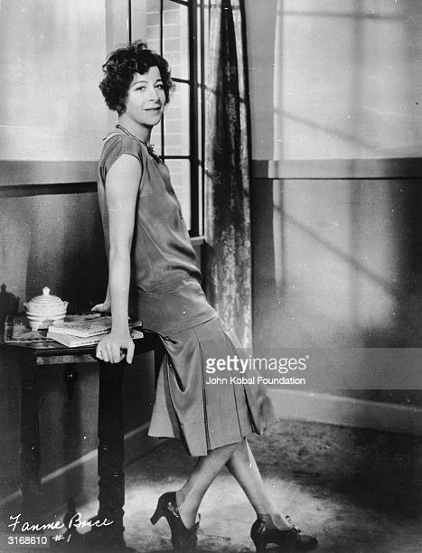 Stage radio vaudeville and burlesque actress Fanny Brice