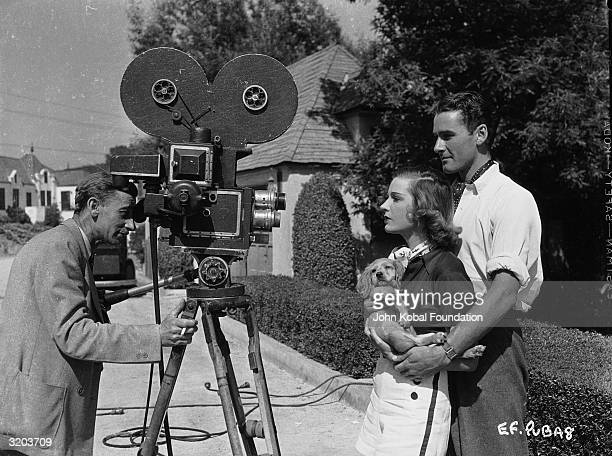 Tasmanian film star Errol Flynn and his first wife French actress Lili Damita pose for the camera