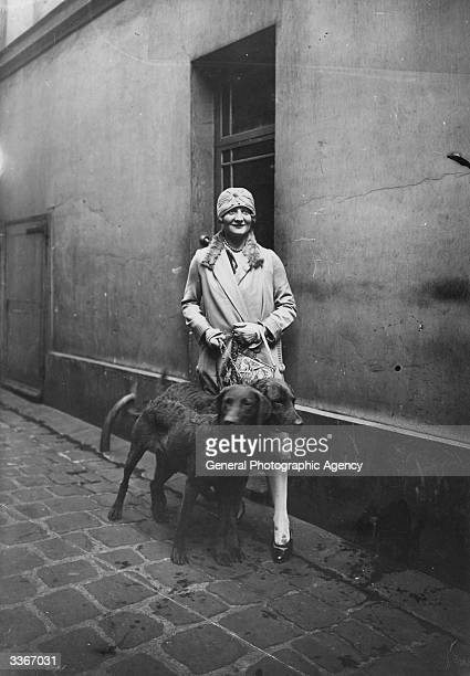 The American swimmer Lillian Cannon in Paris prior to an attempt to swim the English channel