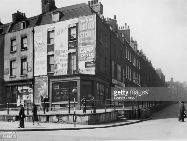 The corner of Cross Street and Essex Road in Islington north London