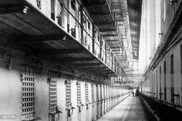 The interior of Sing Sing Prison near New York