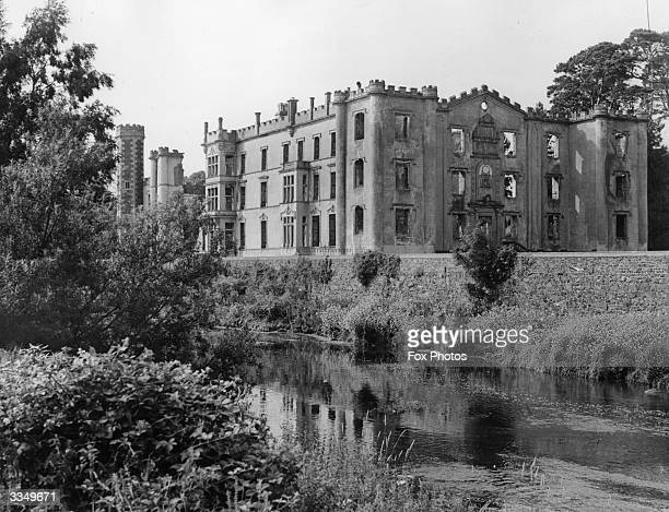 The ruins of Antrim Castle at County Antrim in Northern Ireland The gardens at the castle were designed by the famed French landscape architect Le...