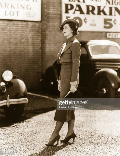 American actress Myrna Loy during a 'walking shot' for one of her films