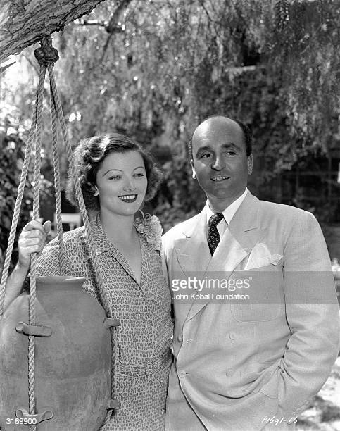 American actress Myrna Loy with her husband film producer Arthur Hornblow Jr
