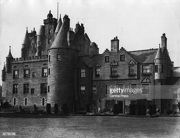 Glamis Castle in Angus Scotland the family home of the Earl and Duchess of Strathmore the parents of future Queen Duchess of York The castle dates...