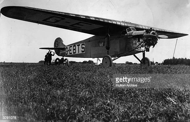 The Fokker monoplane 'Princess Xenia' in which the aviator Mary du Caurroy Duchess of Bedford participated in a recordbreaking flight to India