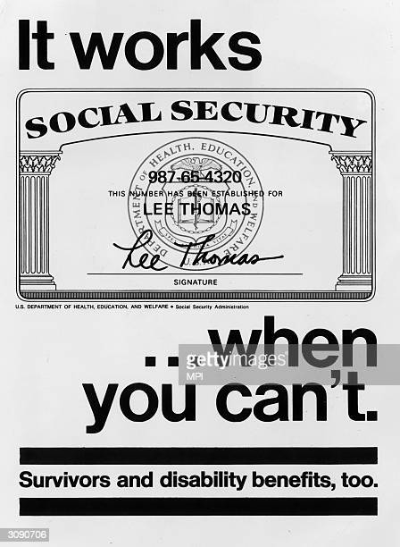 Government poster advertising the benefits of the social security system.
