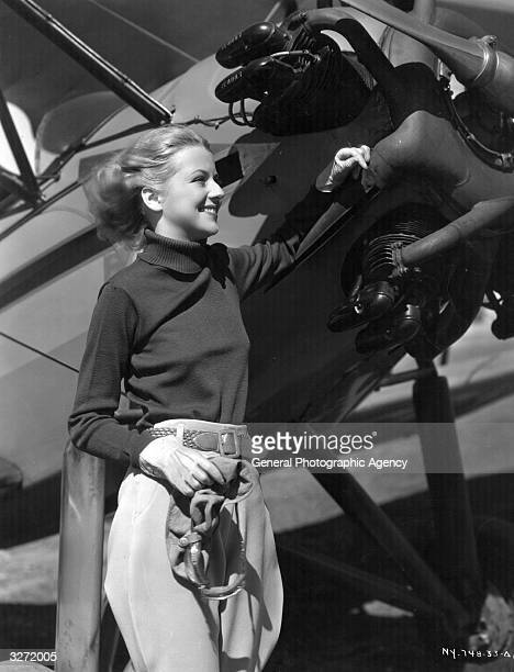 Betty Furness, who stars in the film 'The Life Of Vergie Winters', a film version soap opera, directed by Alfred Santell.