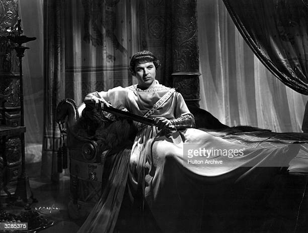 Emlyn Williams the Welsh actor and playwright as the cruel Caligula in a scene from the film 'I Claudius' directed by Josef Von Sternberg and Denis...