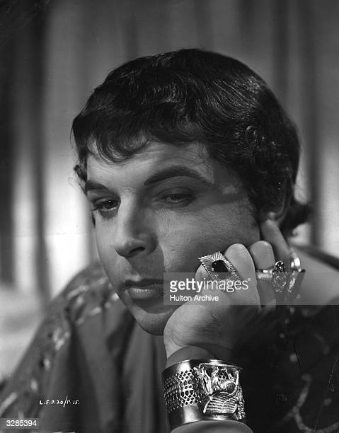 Emlyn Williams the Welsh actor and playwright as the cruel Caligula from the film 'I Claudius' directed by Josef Von Sternberg and Denis Kavanagh for...