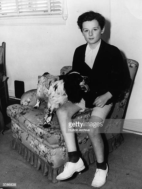 Freddie Bartholomew the child actor in his Hollywood home