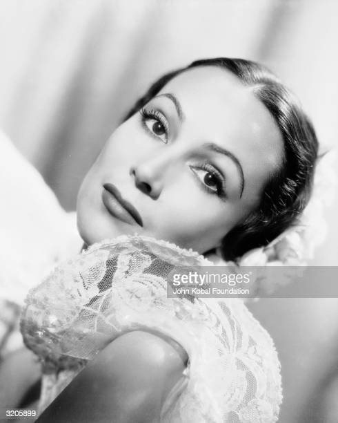 Mexican film star, Dolores Del Rio in a publicity still for 'Lancer Spy', directed by Gregory Ratoff, in which she plays Dolores Daria Sunnell.