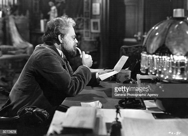 Paul Muni as Emile Zola in the film 'The Life Of Emile Zola' the story of the French writer who intervened in the famous case of Alfred Dreyfus a...