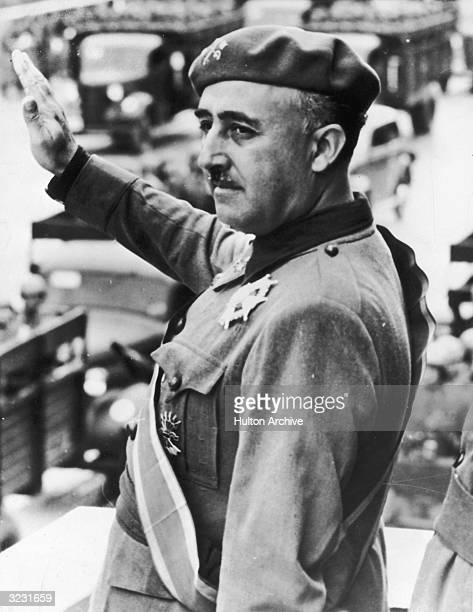 Spanish dictator Francisco Franco who led Nationalist forces during the Spanish Civil War