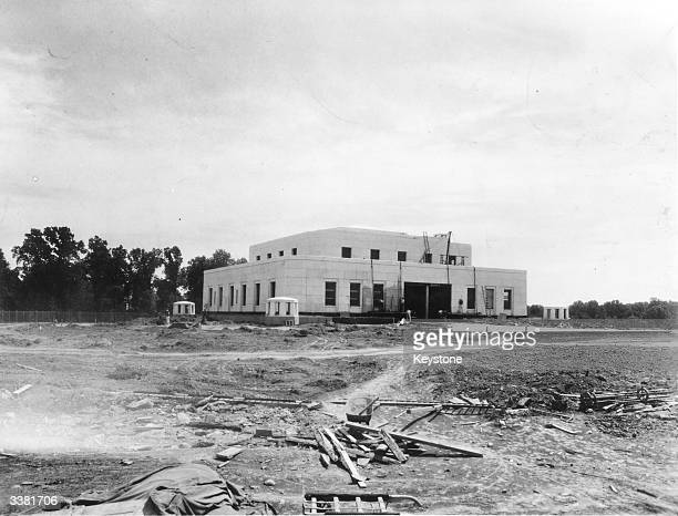 The construction of the Gold Depository Fort Knox in Kentucky