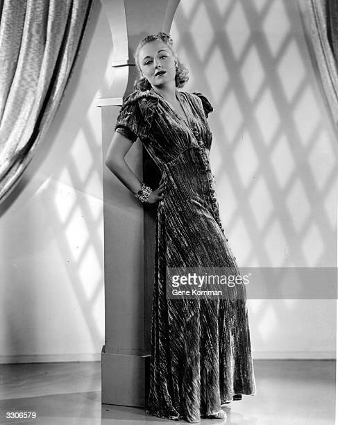 Virginia Field the 20th Century Fox film actress models some clothes She appeared in 'Charlie Chan at Monte Carlo'