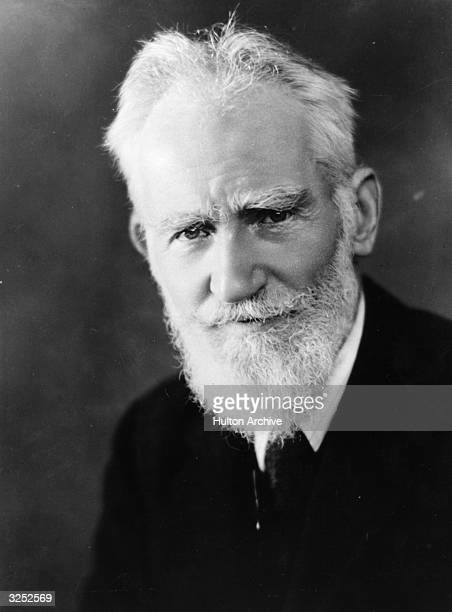 George Bernard Shaw the dramatist critic writer and vegetarian who was born in Dublin