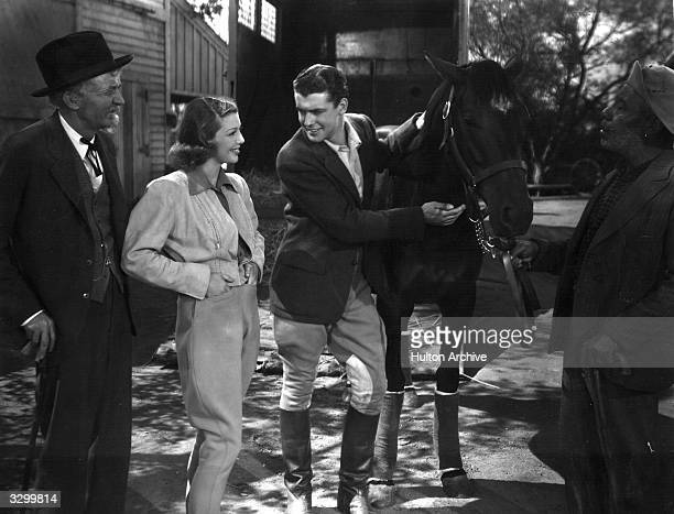 Loretta Young stars in the film 'Kentucky' with Richard Greene the British leading man The film was directed by David Butler for 20th Century Fox