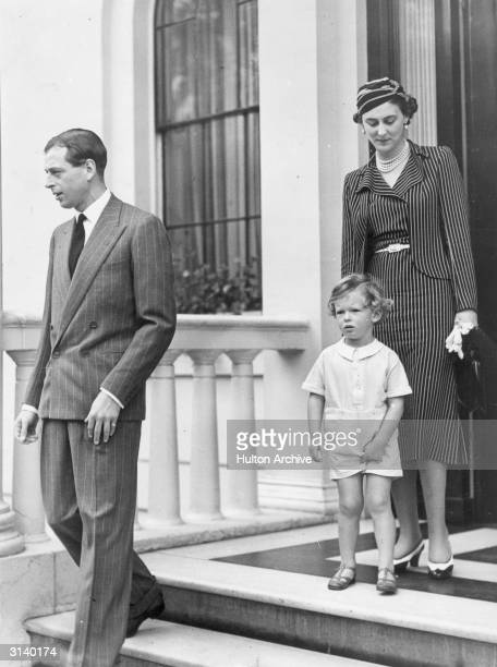 Prince George Duke of Kent with his wife Princess Marina and his son Prince Edward