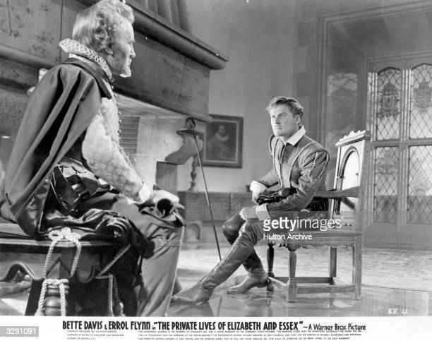 Errol Flynn and Donald Crisp star in the historical drama 'Elizabeth And Essex', also known as 'The Private Lives of Elizabeth and Essex', directed...