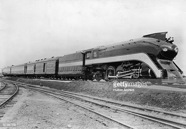 Frisco Line's early streamlined locomotive 'Firefly' which ran between Kansas City and Oklahoma City