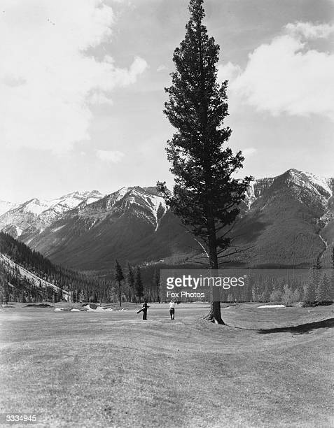 The 15th fairway on Banff Springs golf course