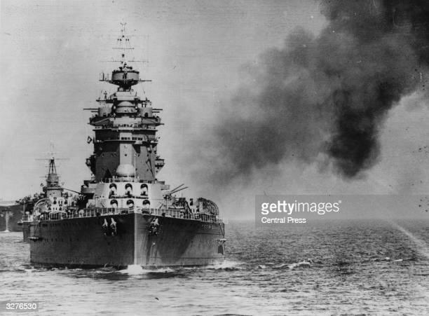 The 'HMS Rodney' in combat