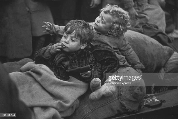 Young Spanish refugees from the Spanish Civil War on the French/Pyrenees border