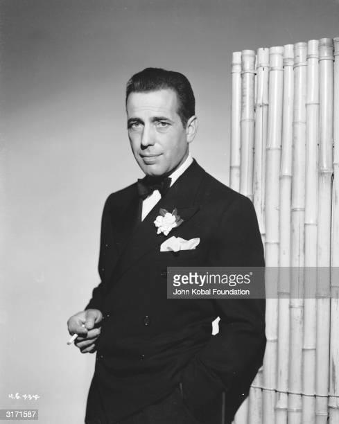 American actor Humphrey Bogart wearing a dinner jacket