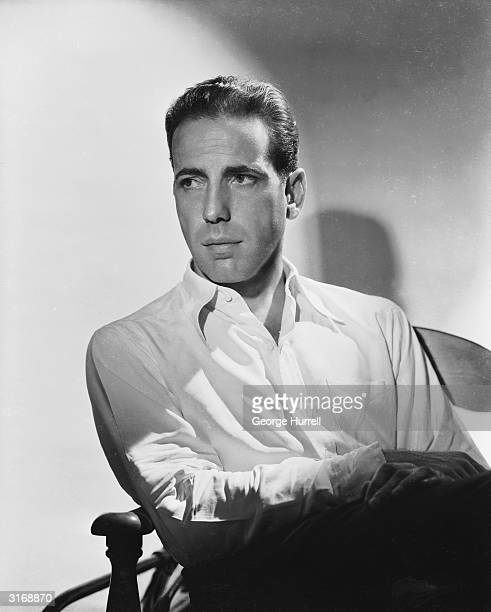 American actor Humphrey Bogart who achieved stardom in such films as 'The Maltese Falcon' 'Casablanca' and 'The Big Sleep'