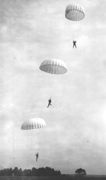 Parachuting Marines Wall Art
