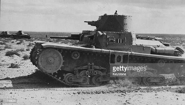 An Italian tank in Northern Egypt